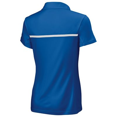 Wilson Team Ladies Polo Shirt-Blue-Back