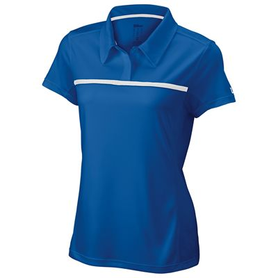 Wilson Team Ladies Polo Shirt-Blue-Front