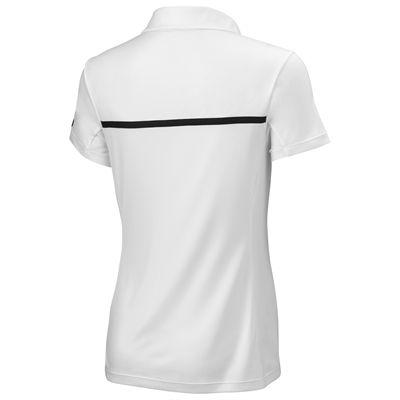 Wilson Team Ladies Polo Shirt-Blue-White-Back