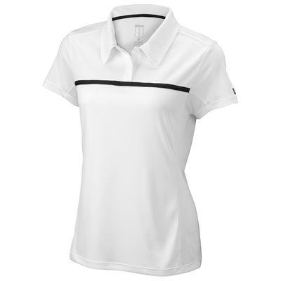 Wilson Team Ladies Polo Shirt-Blue-White-Front