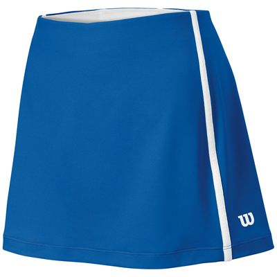 Wilson Team Ladies Skirt-Blue-White-Front
