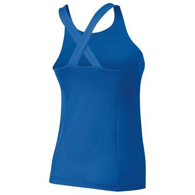 Wilson Team Ladies Tank Top-Blue-White-Back