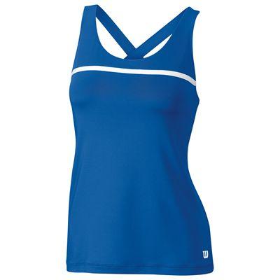 Wilson Team Ladies Tank Top-Blue-White-Front