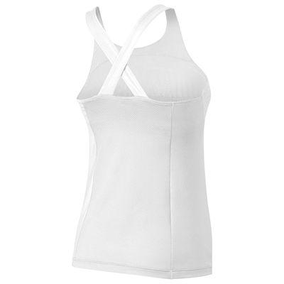 Wilson Team Ladies Tank Top-White-Black-Back