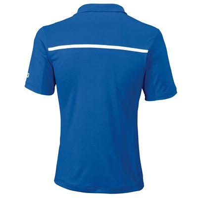 Wilson Team Mens Polo Shirt - Blue - Back