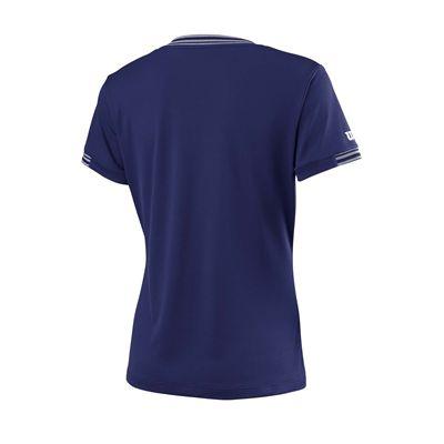 Wilson Team V-Neck Ladies T-Shirt - Blue - Back