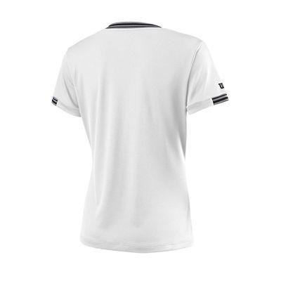 Wilson Team V-Neck Ladies T-Shirt - White - Back