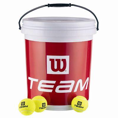 Wilson Team W Trainer Tennis Balls (72 Ball Bucket)