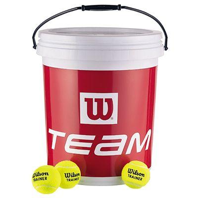 Wilson Team W Trainer Tennis Balls - 72 Ball Bucket