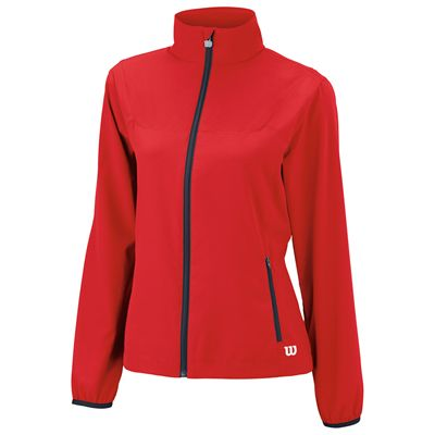 Wilson Team Woven Ladies Jacket-Red-Front