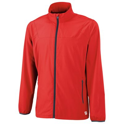 Wilson Team Woven Mens Jacket-Red-Front