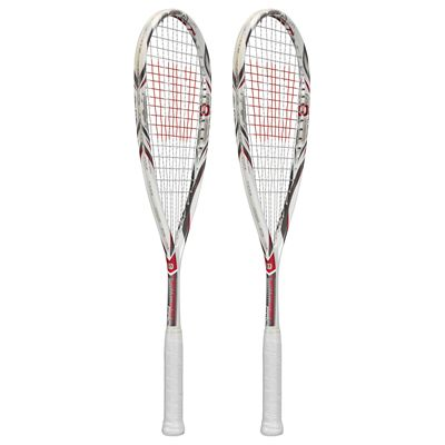 Wilson Tempest Pro BLX Squash Racket Double Pack-Side