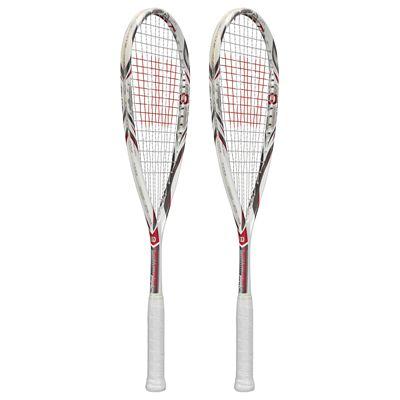 Wilson Tempest Pro BLX Squash Racket Double Pack-Side