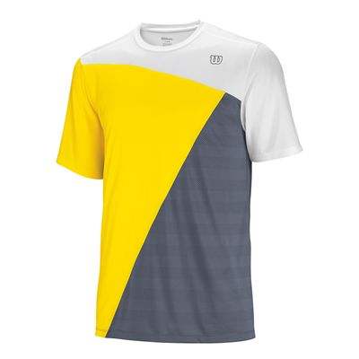 Wilson Tough Win Crew T-shirt White Gold Grey