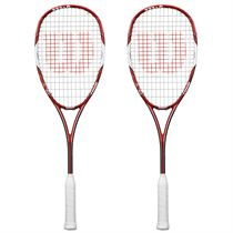 Wilson Tour 138 BLX Squash Racket Double Pack