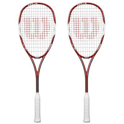 Wilson Tour 138 BLX Squash Racket Double Pack SS15 - Front View