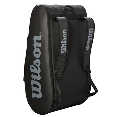 Wilson Tour 15 Racket Bag AW19 - Black - Stand Position