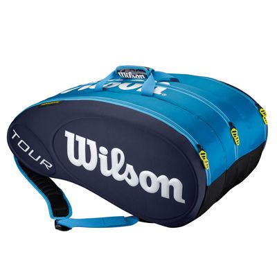 Wilson Tour Red 15 Racket BagWilson Tour Red 15 Racket Bag - Blue
