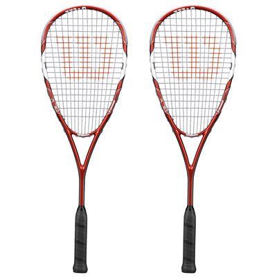 Wilson Tour 170 BLX Squash Racket Double Pack SS15 - Front View