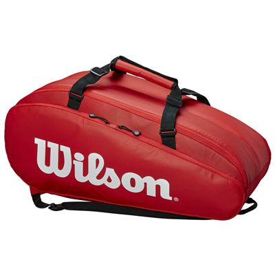 Wilson Tour 9 Racket Bag AW19 - Red - Side