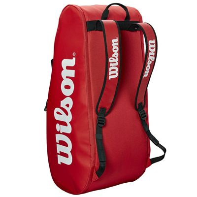 Wilson Tour 9 Racket Bag AW19 - Red - Statnd Position