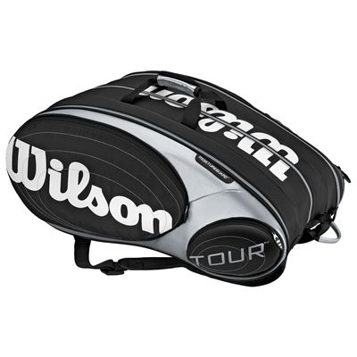 Wilson Tour 9 Pack Racket Bag Black Silver 1