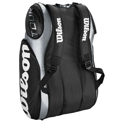 Wilson Tour 9 Pack Racket Bag Black Silver 2