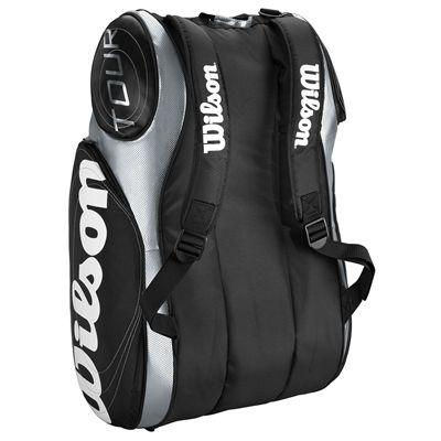 Wilson Tour 9 Pack Racket Bag Black Silver 2