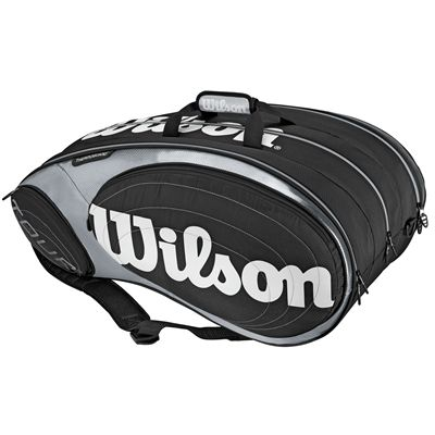 Wilson Tour 9 Pack Racket Bag Black Silver