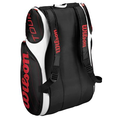 Wilson Tour 9 racket bag black red 2