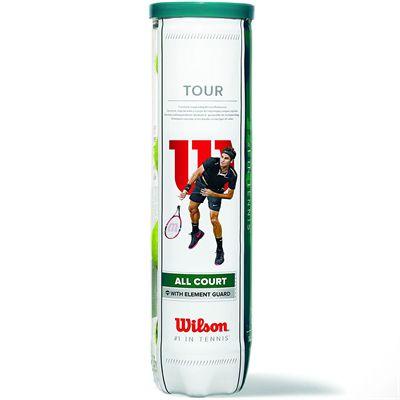 Wilson Tour All Court Tennis Balls - Tube of 4