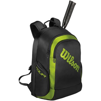 Wilson Badminton Tour Backpack-Black-Green