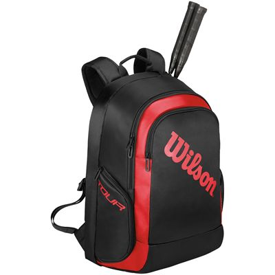 Wilson Badminton Tour Backpack-Black-Red