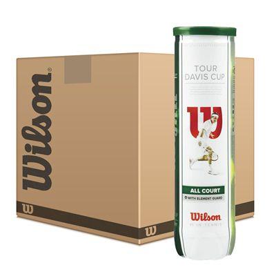Wilson Tour Davis Cup Tennis Balls - 12 Dozen
