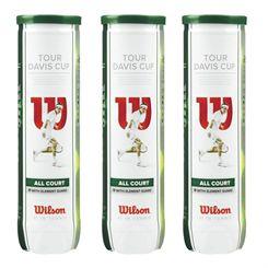 Wilson Tour Davis Cup Tennis Balls - 1 Dozen