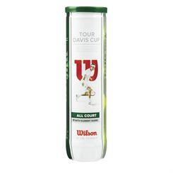 Wilson Tour Davis Cup Tennis Balls 4 Balls Can