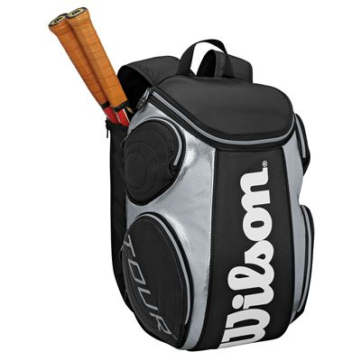 Wilson Tour Large Backpack Black Silver