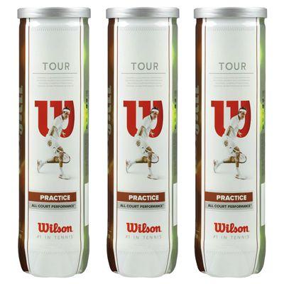 Wilson Tour Practice Tennis Balls - 1 Dozen