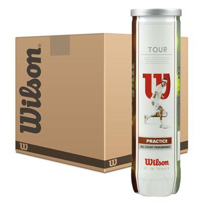 Wilson Tour Practice Tennis Balls - 6 Dozen - Image