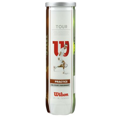 Wilson Tour Practice Tennis Balls - Tube of 4
