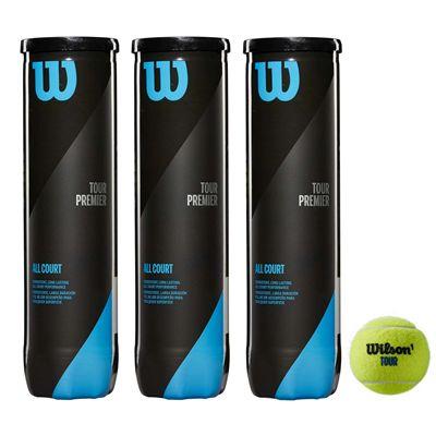 Wilson Tour Premier All Court Tennis Balls - 1 dozen