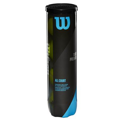Wilson Tour Premier All Court Tennis Balls - Tube of 4 - Side