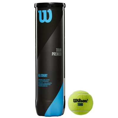 Wilson Tour Premier All Court Tennis Balls - Tube of 4