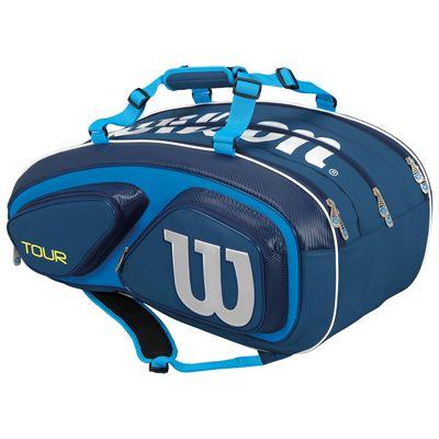 Wilson Tour V 15 Racket Bag-Blue-Back
