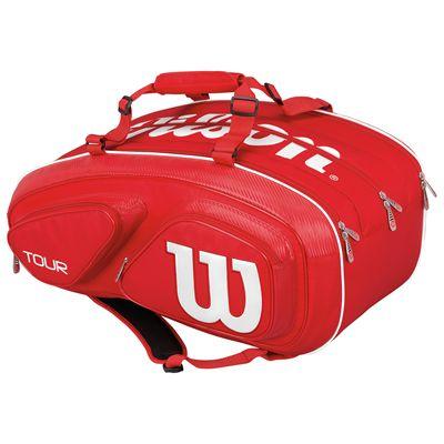 Wilson Tour V 15 Racket Bag-Red-Back