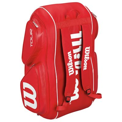 Wilson Tour V 15 Racket Bag-Red-Stand-Up