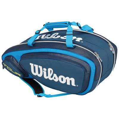 Wilson Tour V 9 Racket Bag-Blue-Back