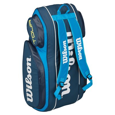 Wilson Tour V 9 Racket Bag-Blue-Stand-Up