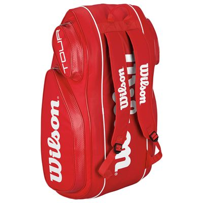 Wilson Tour V 9 Racket Bag-Red-Stand-Up