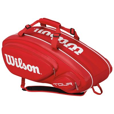 Wilson Tour V 9 Racket Bag-Red